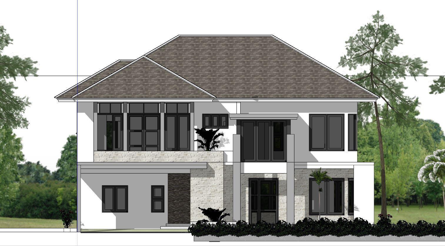 4 Bedrooms Home Design Plan Size 14x11m | Home design ...