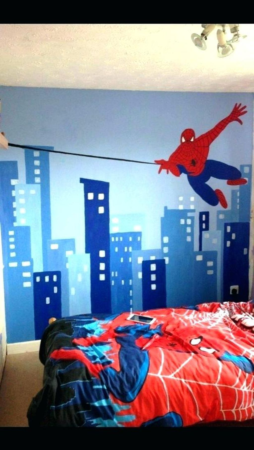 Awesome 18 DIY Spiderman Themed Bedroom Ideas for Your Little