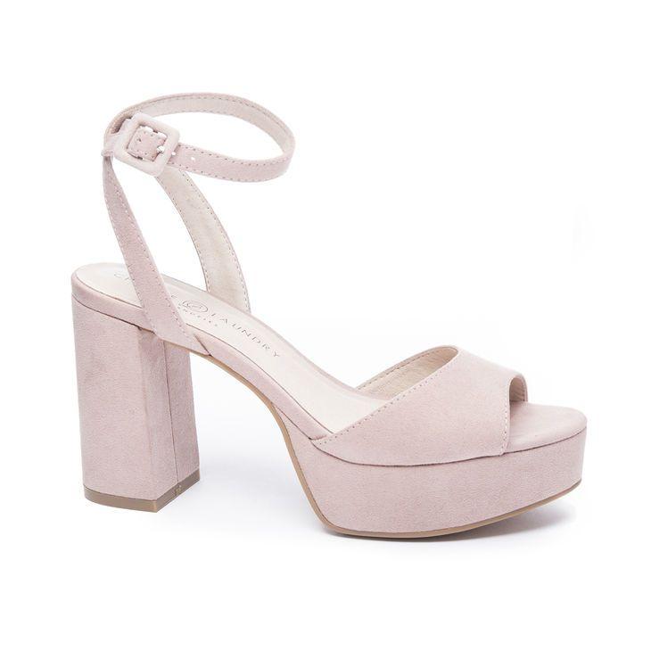 Theresa Platform Sandal Ankle Strap Sandals Heels Chunky Heels