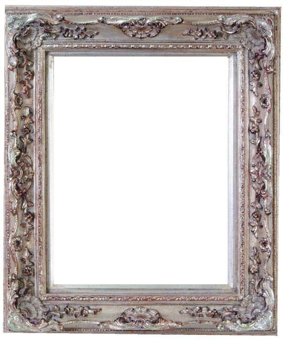Watkins Narrow Baroque Antique Silver Leaf Frame Antique Picture