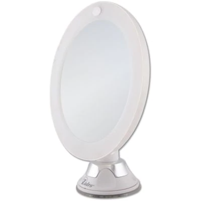 This Zadro 10x Cordless Led Lighted Wall Mount Mirror Provides Optimal Illumination So You Can Look Your Very Best This In 2020 Wall Mounted Mirror Mirror Wall Mount