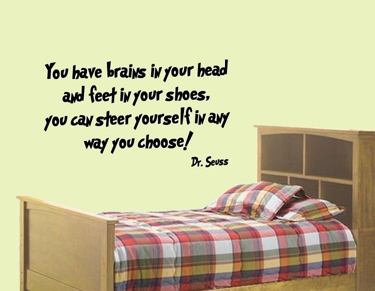 Dr Seuss Wall Decals | You Have Brains In Your Head | Dr Seuss wall ...
