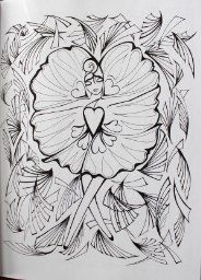 Fanciful Faces Coloring Book Creative Haven Miryam Adatto 9780486779355