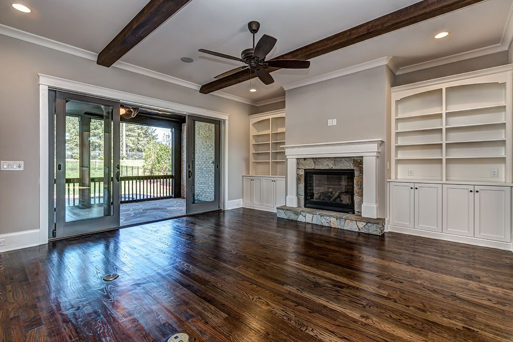 Living Room, Family Room, Great Room, Stained Hardwoods ...