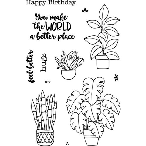 Jane 39 S Doodles Plants Clear Stamp Set 743108 Plant Doodle Plant Sketches Plant Drawing
