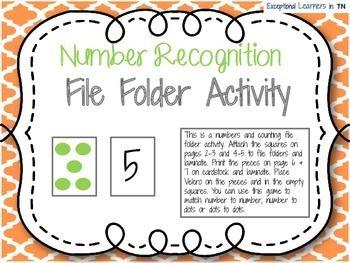Counting File Folder Freebie File Folder File Folder Activities Folders