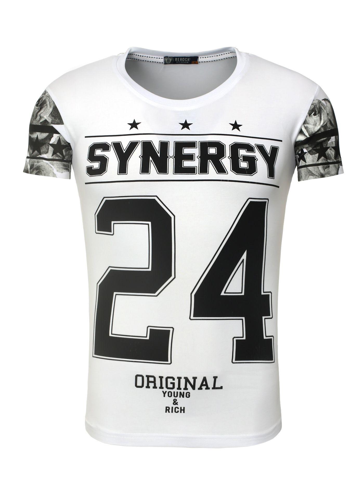 Men T-Shirt Baseball white ReRock   Camisetas e Estampas 8d83243dc8