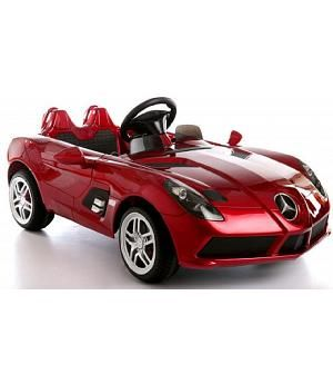 Mercedes Slr Infantil 12v Mando Rojo Metalizado Coche Para Ninos