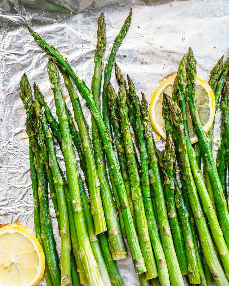 Roasted Asparagus With Lemon A Couple Cooks Recipe Roasted Asparagus Asparagus Steamed Asparagus