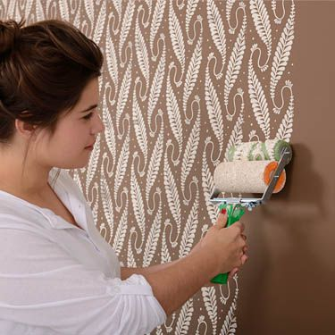 Muster Selber An Die Wand Rollen Malerei Schlafzimmer Wande Gemusterte Farbroller
