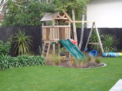 Children 39 s play area garden pinterest play areas for Garden area ideas