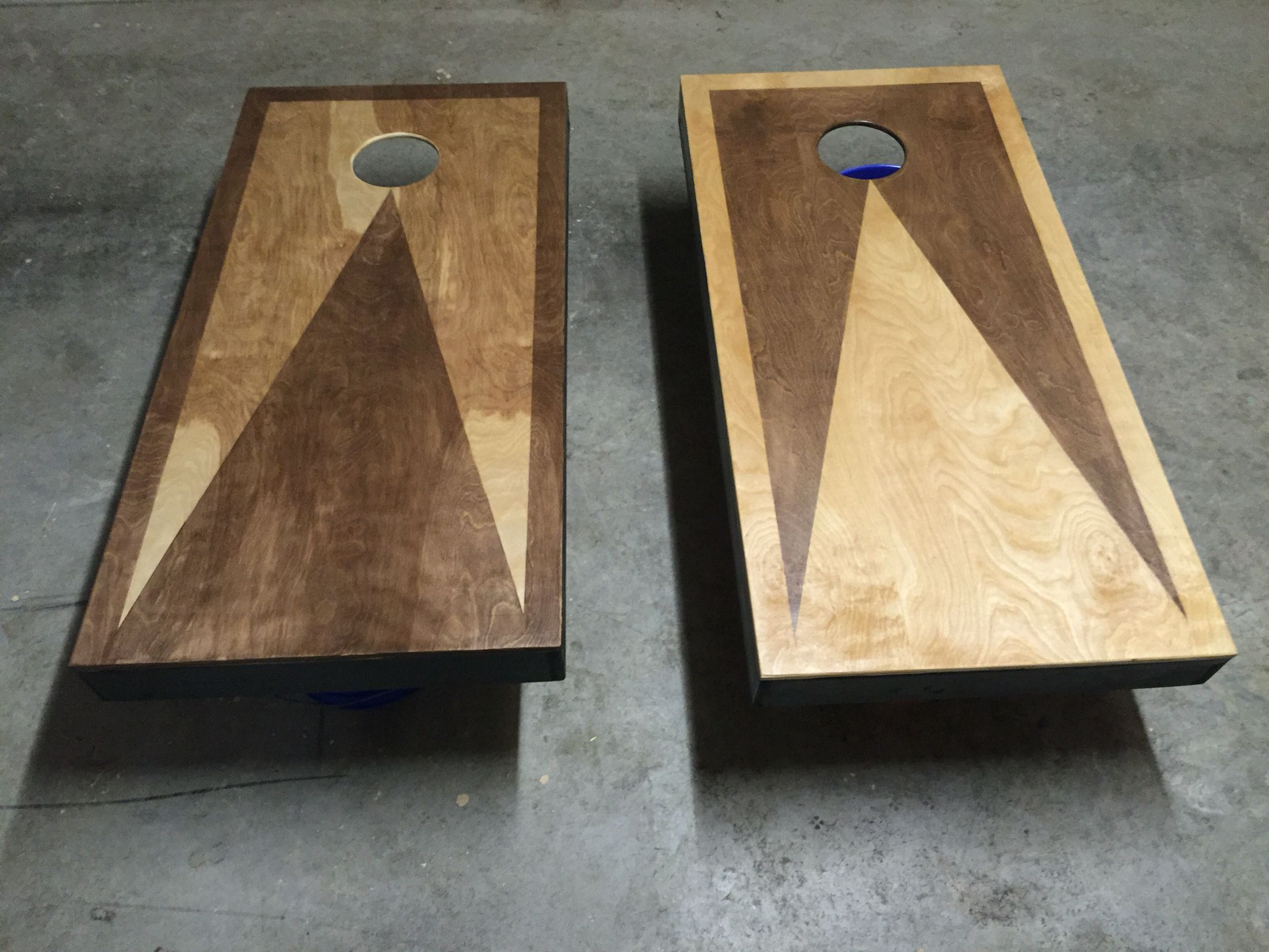 custom stained cornhole boards