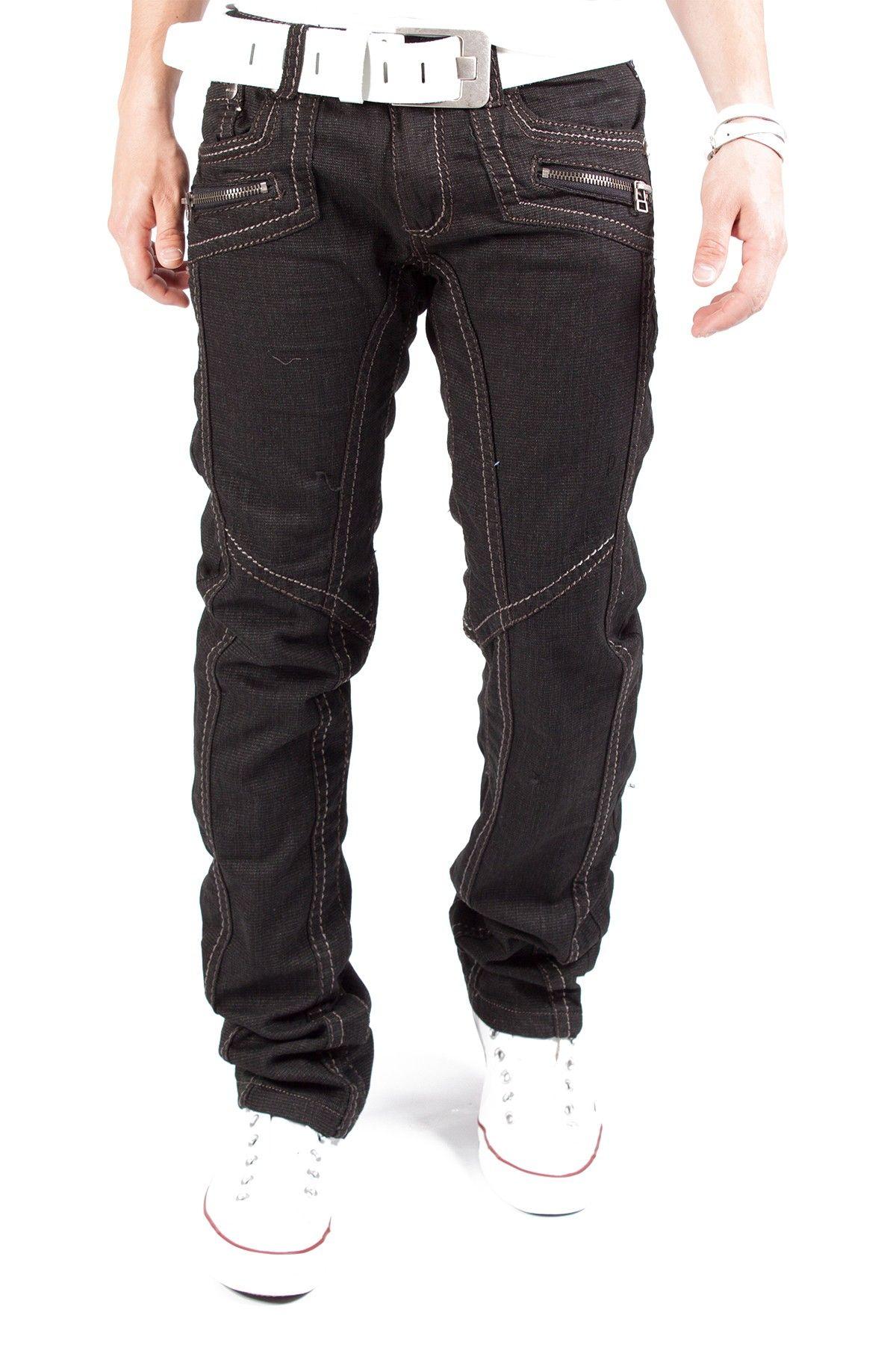 Kosmo Lupo Zipper Jeans Schwarz Km022 1S1H.DE - www.1s1h.de kosmo ... 7074ee388e