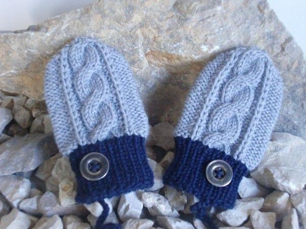 Handschuhe Für Babys Mit Zöpfchen Muster Jetzt Selber Stricken
