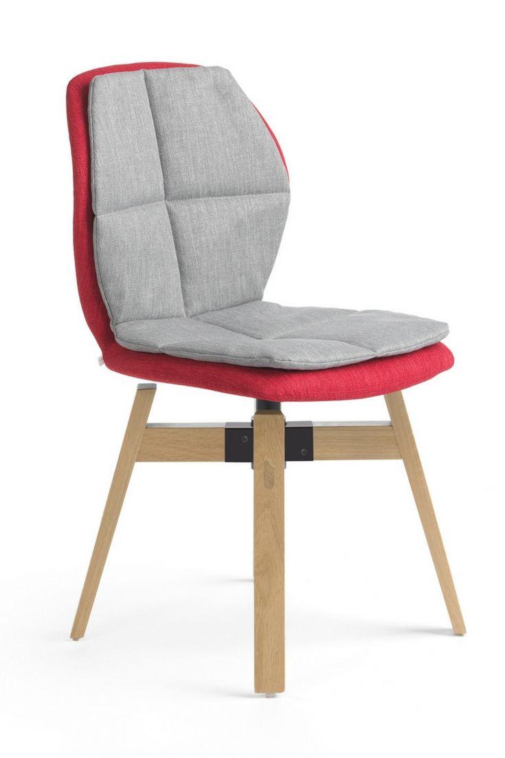 Une chaise bicolore ergonomique et confortable  piétements de bois