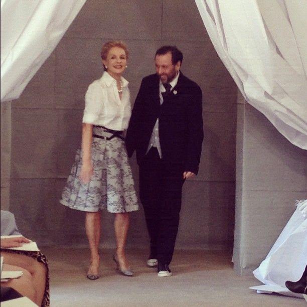 Carolina Herrera herself! #bridalmarket