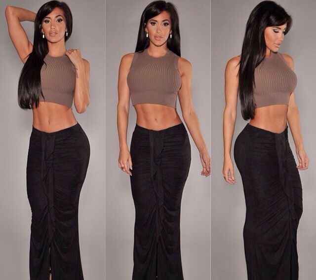 Hot Miami Styles - long fitted skirt | My Style | Pinterest ...