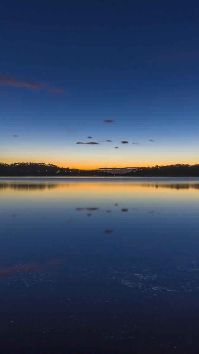iPhone 11 Pro Wallpaper lake sunset 4K HD Download Free