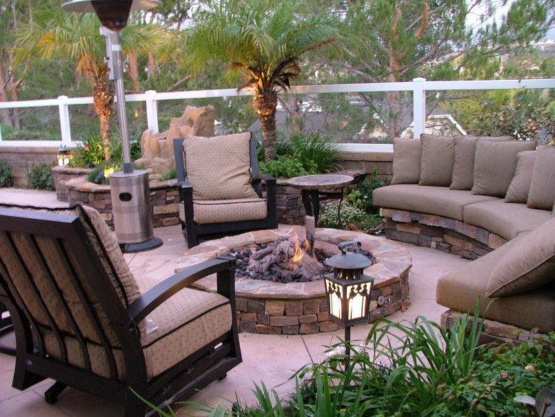 Backyard Cheap With Patio Also Decor And Decoration Besides Outdoor Vintage  Minimalist Deep Fire Pit With Circle Backyard With An Outdoor Kitchen ...