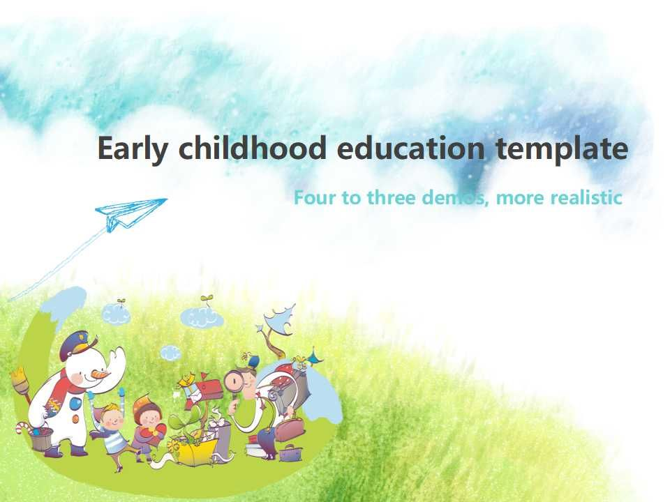 Early Childhood Education Powerpoint Template Early Childhood