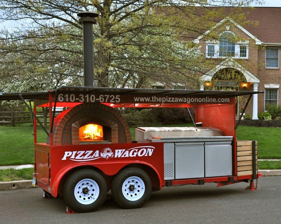 The Pizza Wagon Catering Co. Food Truck features a Valoriani wood fired oven - Montgomery County, Pennsylvania.