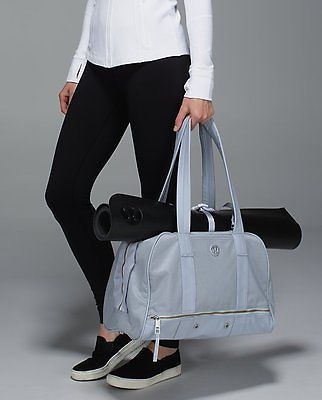 b66f90f7d6d NWT Lululemon Bag Om For All Bag Silver Fox/White - SOLD OUT ...