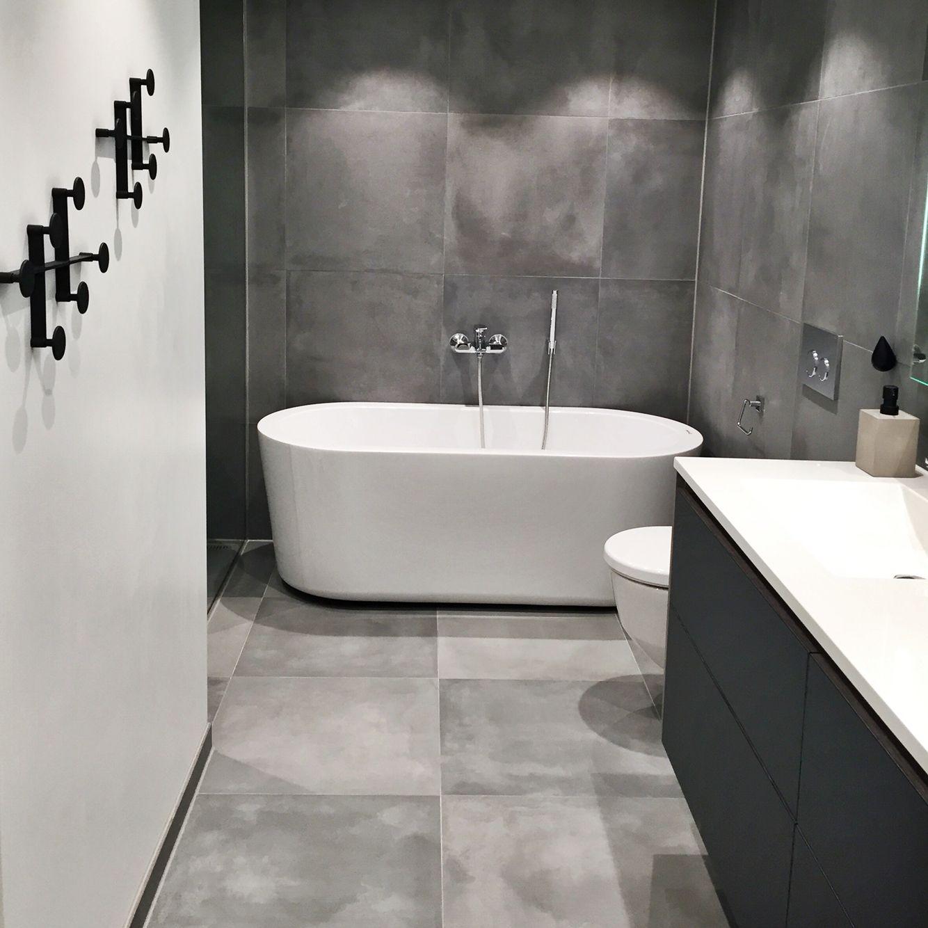 bathroom grey cement tiles 60x60 grey