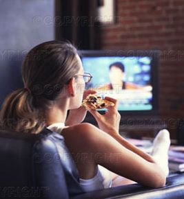 Watch TV alone, with NO ONE touching you!