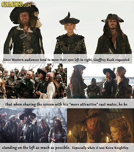 30 Little Known Facts About Famous Movie Scenes Famous Movie Scenes Pirates Of The Caribbean Movie Scenes