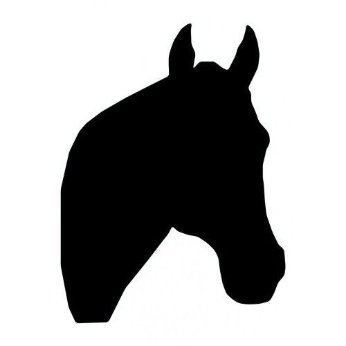 Amazon Com Horse Head Silhouette 64 24 Removable Wall Graphic