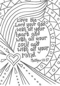 Greatest Commandment Coloring Page Love God Deuteronomy 6 With