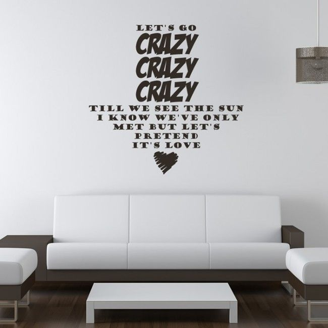One Direction Wall Sticker Live while Were Young Wall Art | Song ...