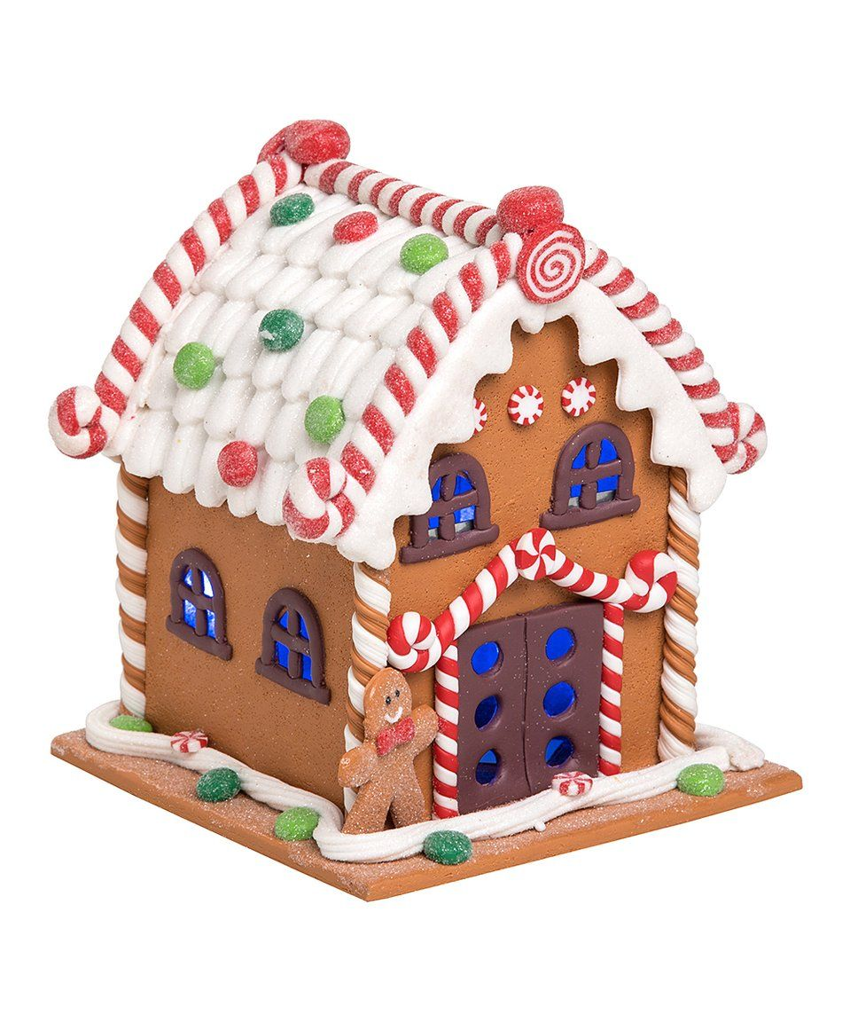 Take a look at this LightUp Gingerbread House Figurine