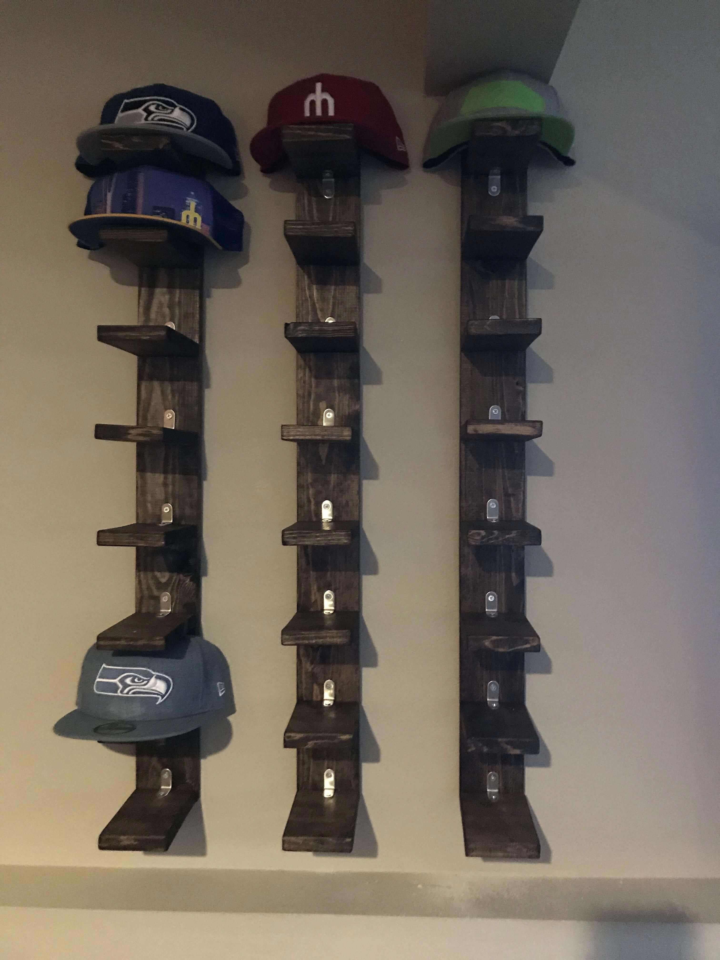 how to store hats on wall