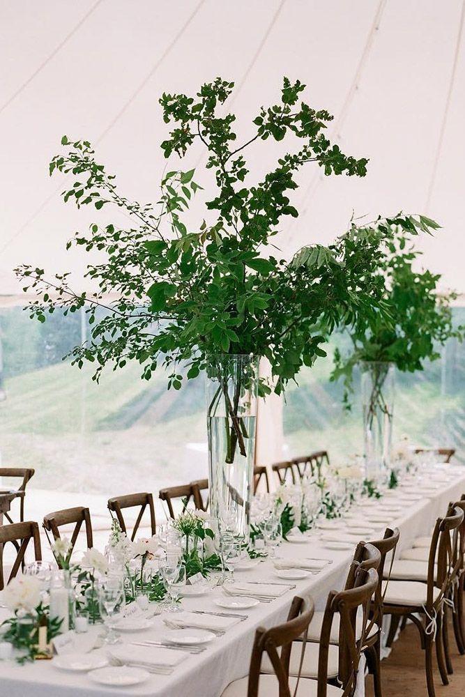Tall arrangements tall wedding centerpieces branch