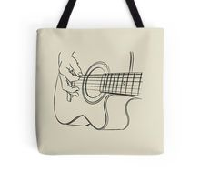 Acoustic Guitar Player Tote Bag
