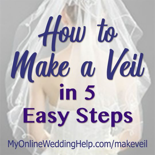 Pin On How To Make A Veil