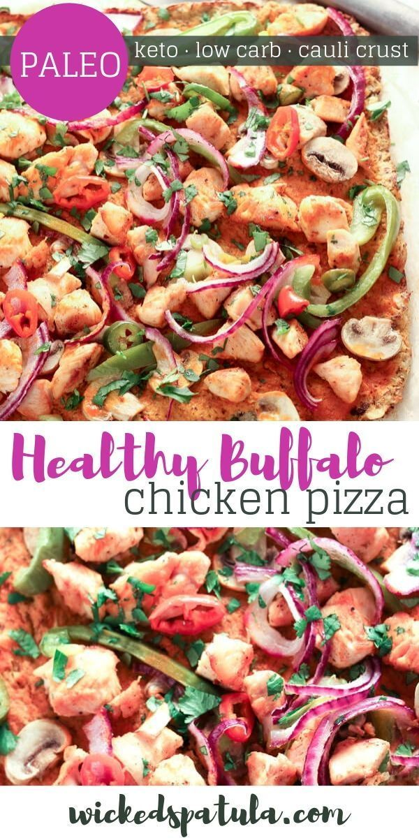 Why yes this Healthy Buffalo Chicken Pizza is all sorts of ...