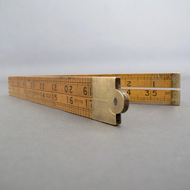 Vintage English Wooden Folding Rule English J Rabone Boxwood