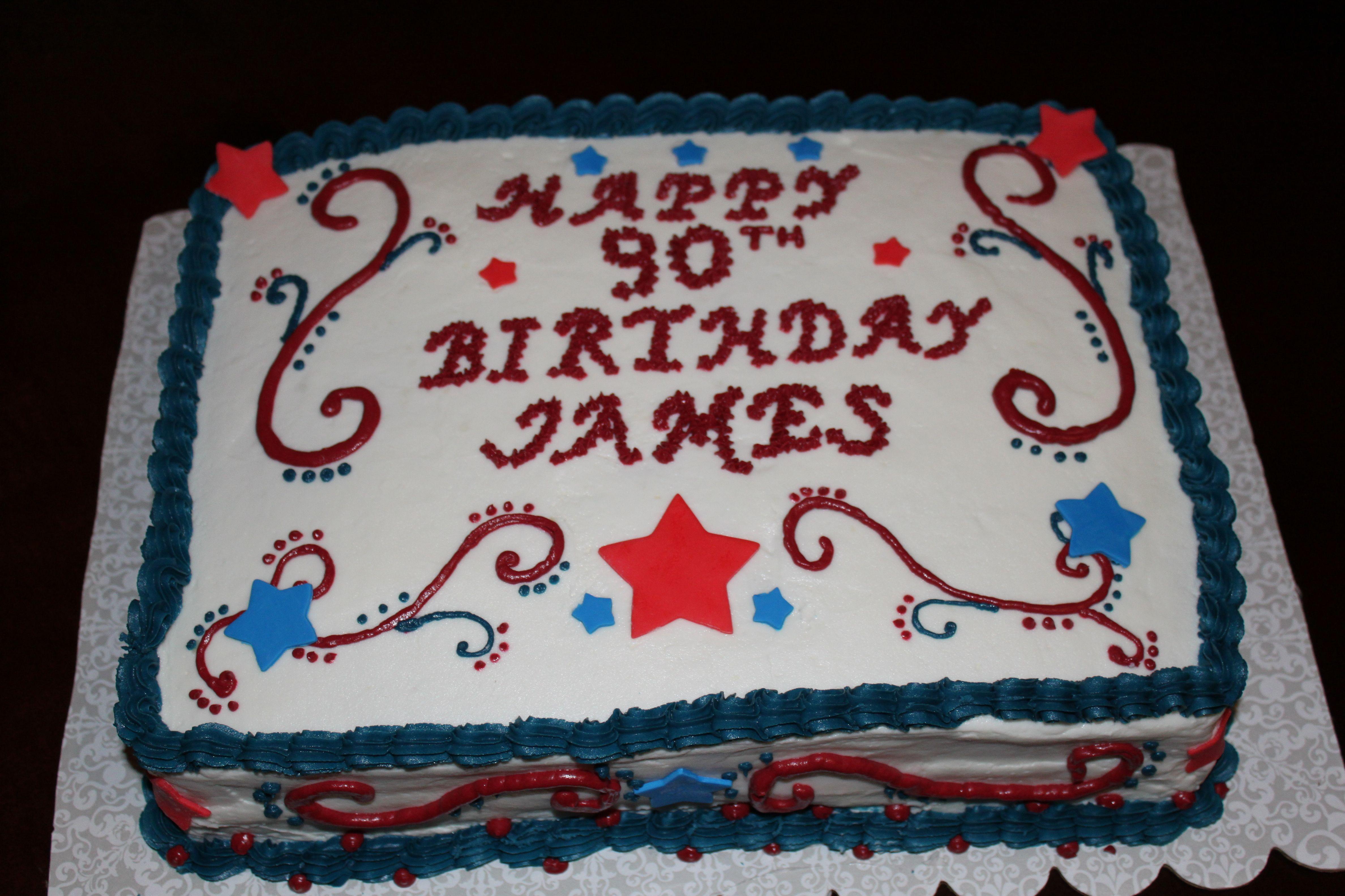 Red White Blue Birthday Cake