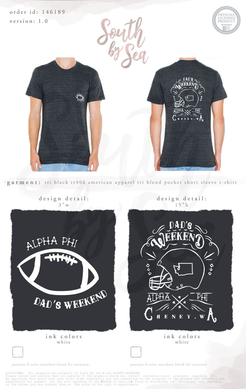 0323303c Alpha Phi | Dad's Weekend | Football Theme | Washington State | Parent's  Weekend | South