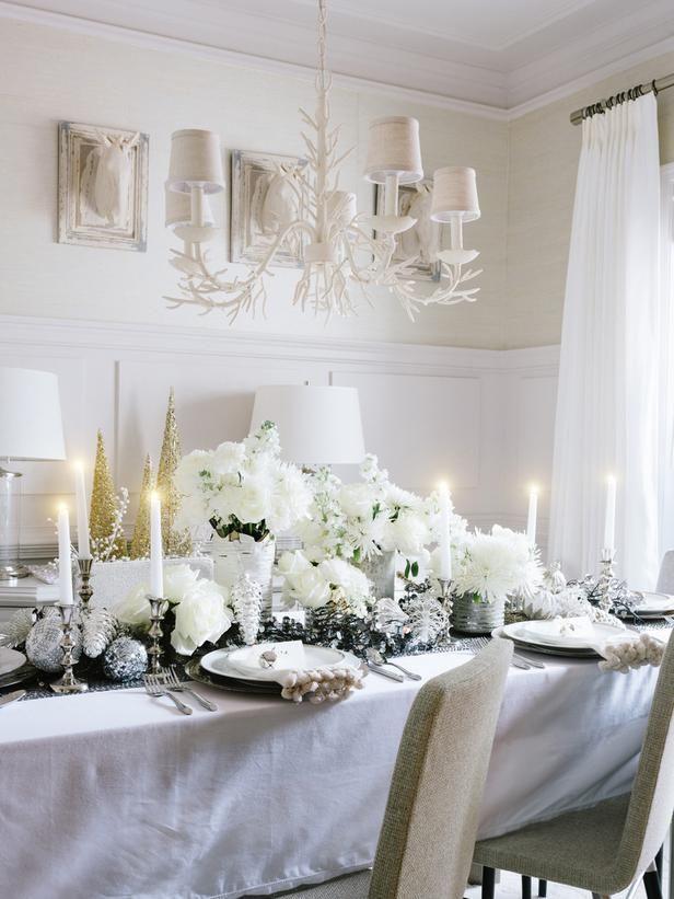 dco nol blanche fleurs - Decoration De Noel Blanche