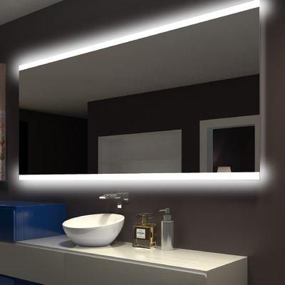 Orren Ellis Keshwar Backlit Bathroom Vanity Mirror In 2020 With Images Backlit Mirror Led Mirror Bathroom Round Mirror Bathroom