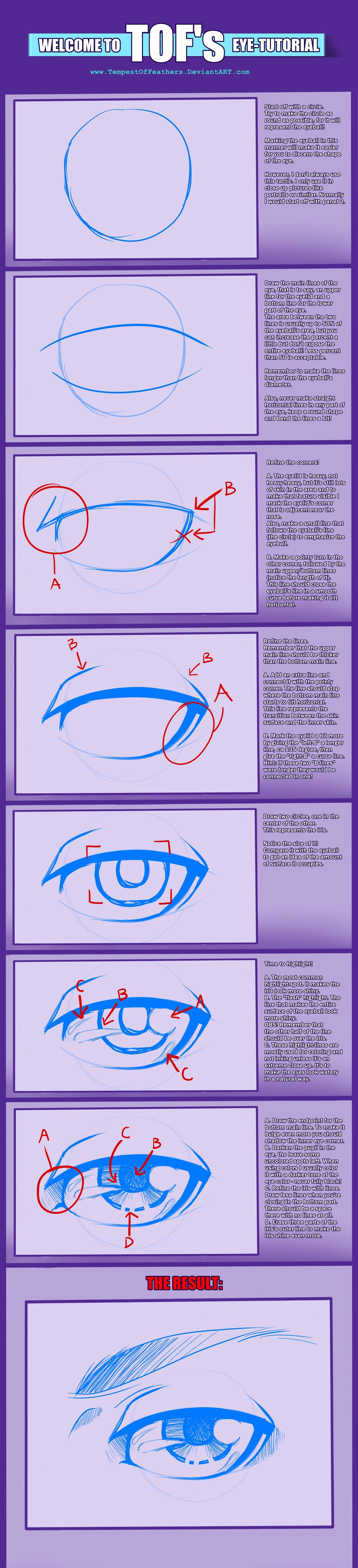 Tof S Eye Tutorial By Tempestoffeathers Deviantart Com On Deviantart Sketches Tutorial Eye Tutorial Tutorial