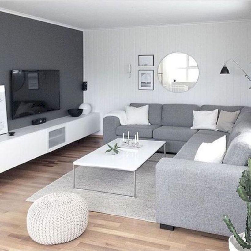 47 Charming Gray Living Room Design Ideas For Your Apartment Roundecor Living Room Design Modern Living Room Decor Apartment Gray Living Room Design