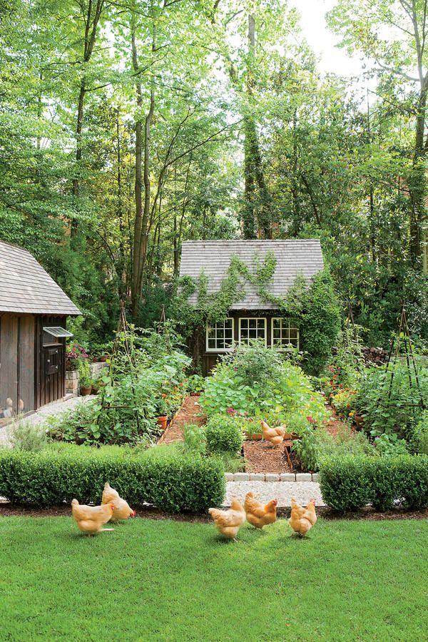 Dream Garden It Even Has A Chicken Coop Outdoor Areas