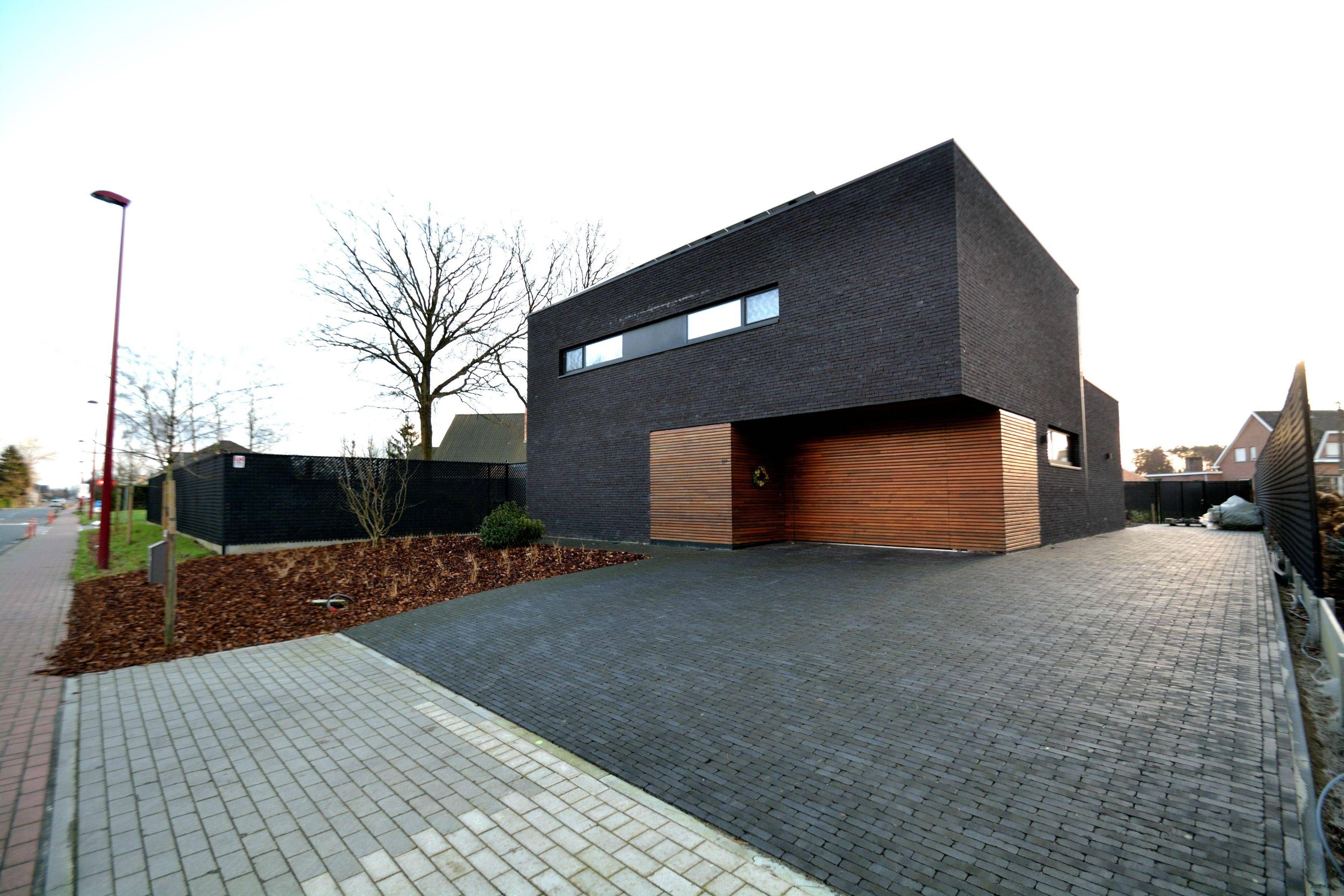 Gevel met hout steen combinatie gevels modern gevel en architectuur