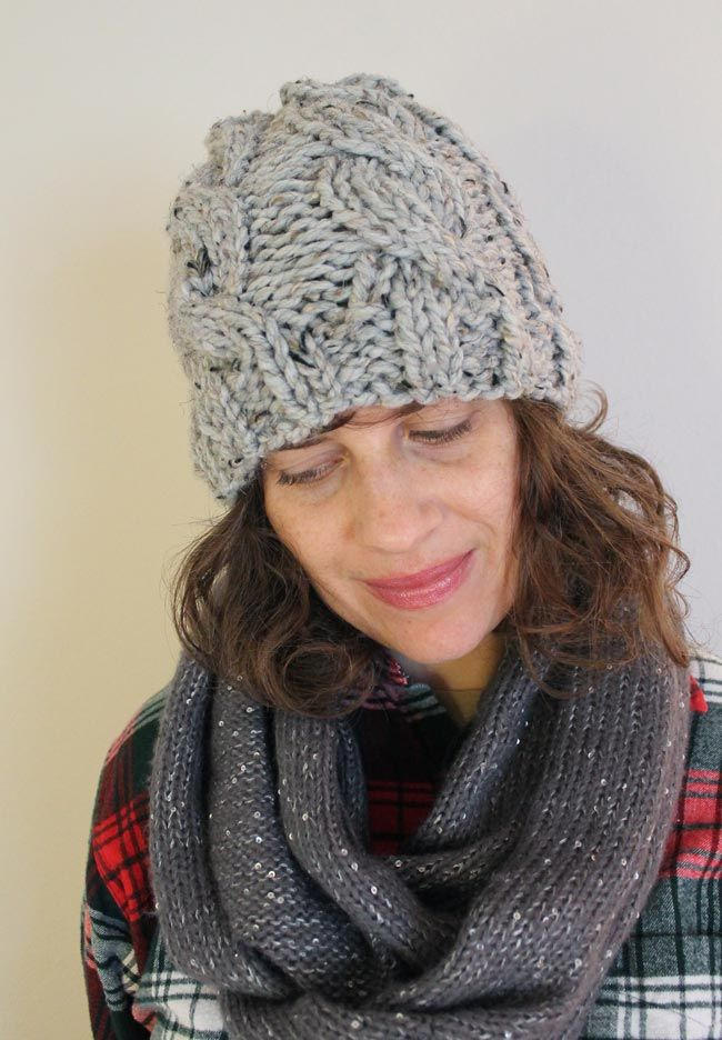 Lula Louise: Chunky Cable Knit Hat with Free Pattern | Knitting Fun ...