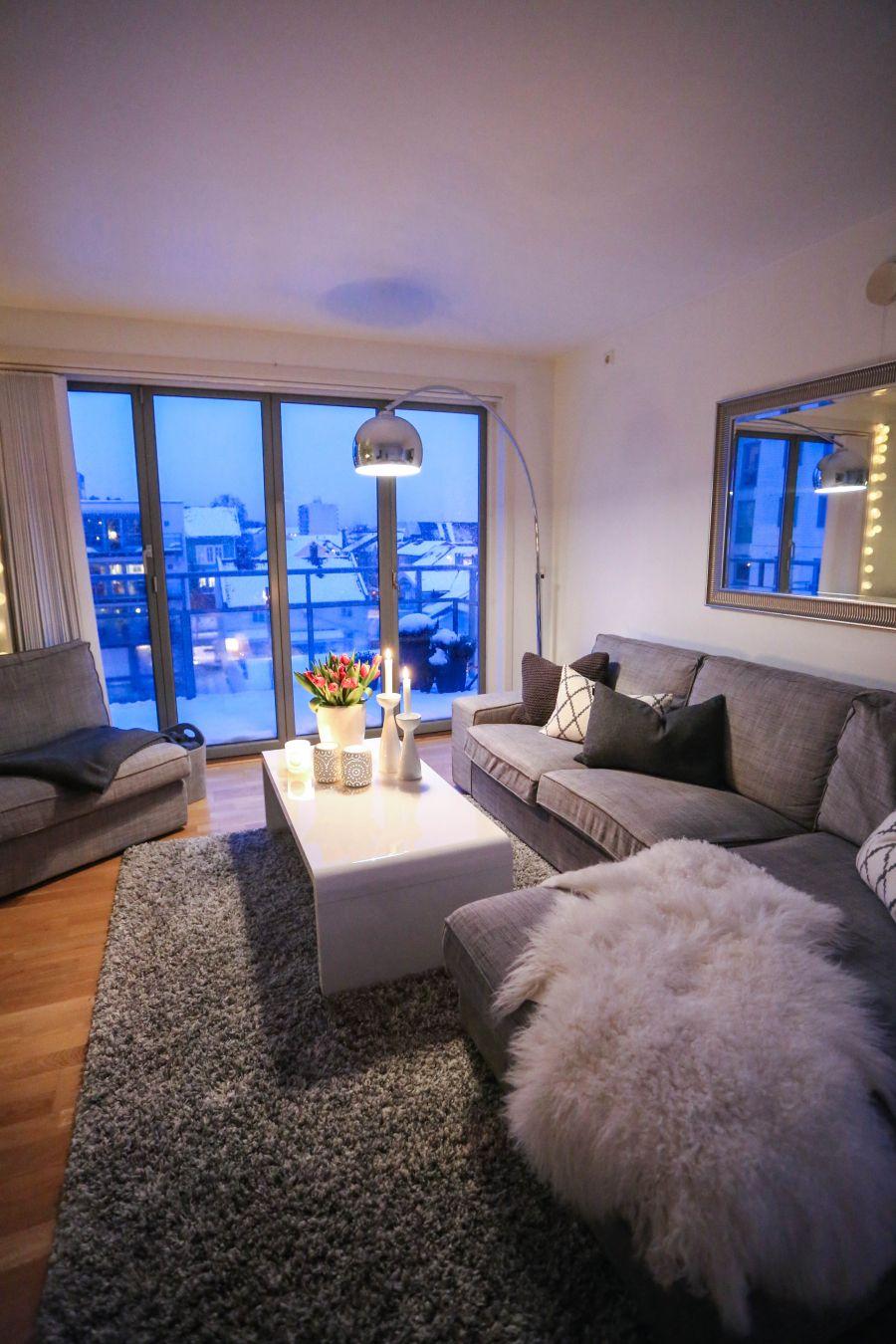Apartment Living Room: Stue Leilighet, Interiør Design Stue