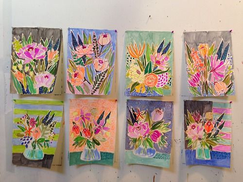 works on paper by Lulie Wallace